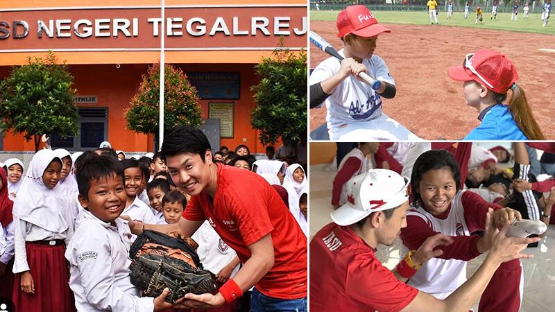 doctorstretchインドネシア野球キャラバン