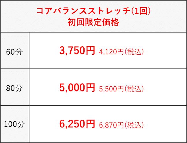 コアバランスストレッチ(1回)  初回限定価格