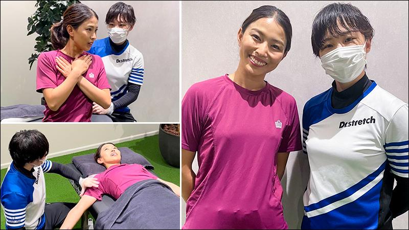 美しすぎる元プロテニスプレイヤー宇野真彩さんがコアバランスストレッチを体感